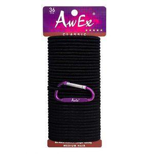 AwEx Strong Black Hair Ties